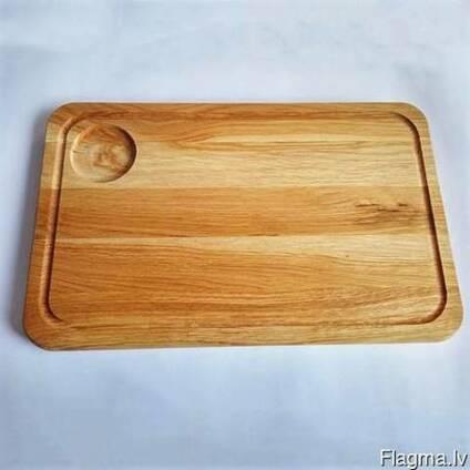 Доска для стейка деревянная (дуб/ясень).