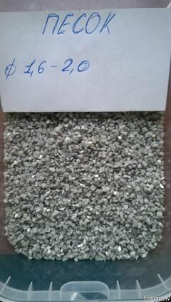 Песок кварцевый 0,2-0,4 мм 0,4-0,8 мм 0,8-1,2 мм 1,2-1,6 мм