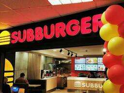Продаётся Subburger бренд с 2 ресторанами в торговых центрах