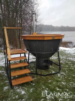 Банный чан или купель на дровах