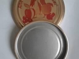 Крышка металлическая СКО 1-82 для закатки стеклянных банок.