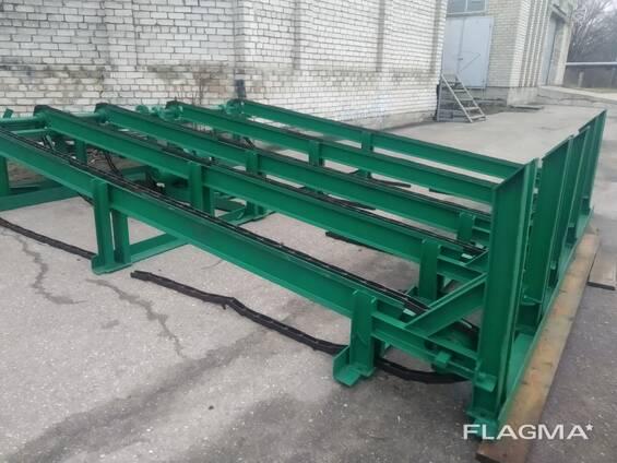 Транспортер для подачи бревен ленточный конвейер прямой