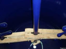 Реактор эмалированный 4 м3. эмаль синяя WWG. Мешалка.