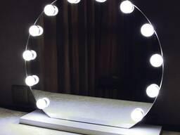 Зеркало круглое с подсветкой на подставке d700 - фото 2